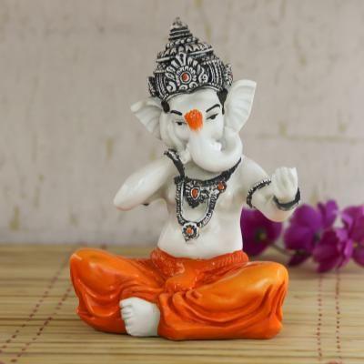 Lord Ganesha Singing Song Decorative Showpiece Indian Home Decor