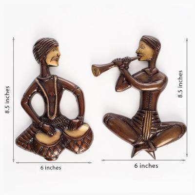 Brass Babla Playing Instrument ShowPiece Indian Home Decor