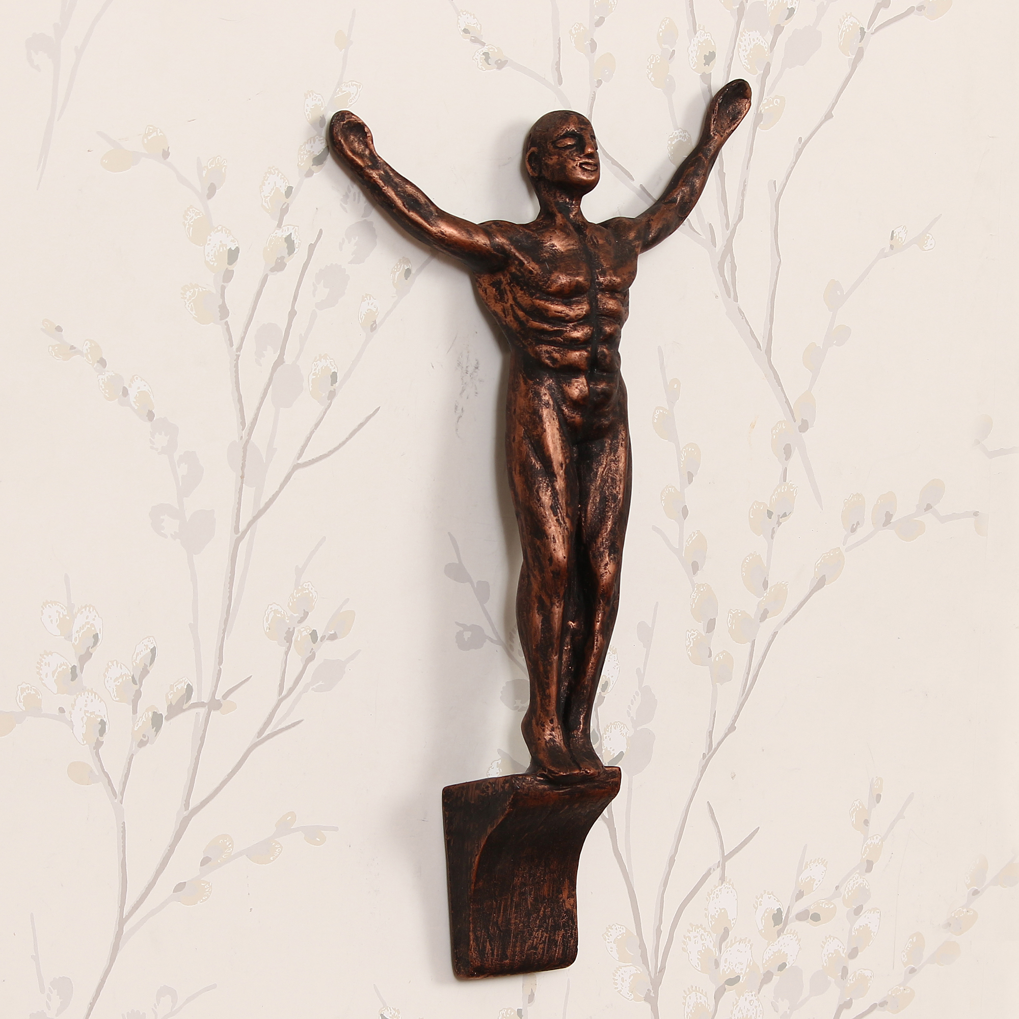 Standing Man with Open Arms Decorative Wall Hanging Statue Indian Home Decor