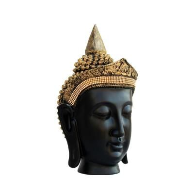 Golden Crown Handcrafted Buddha Head Indian Home Decor