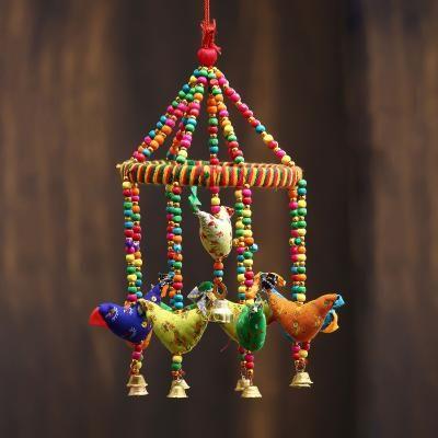 Handcrafted Decorative Birds Wall/Door/Window Hanging Bells Indian Home Decor