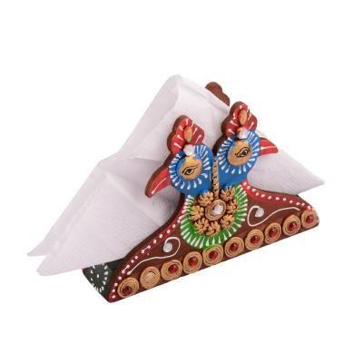 Wooden Papier Mache Decorative Tissue Paper Holder Indian Home Decor