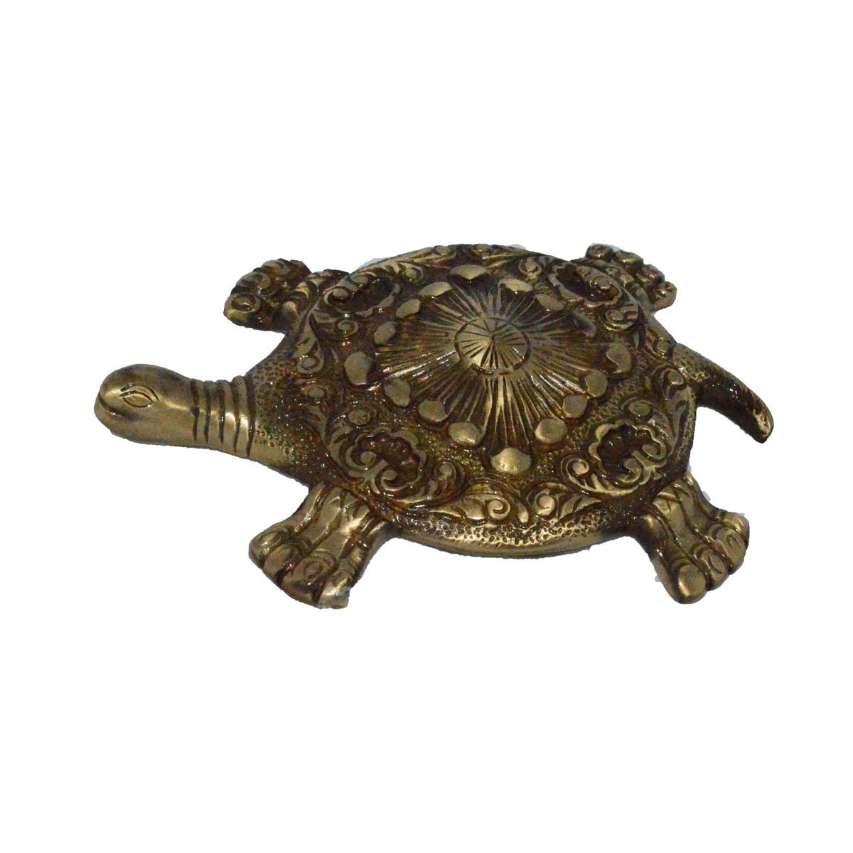 Brass Fend-Shui Tortoise Indian Home Decor
