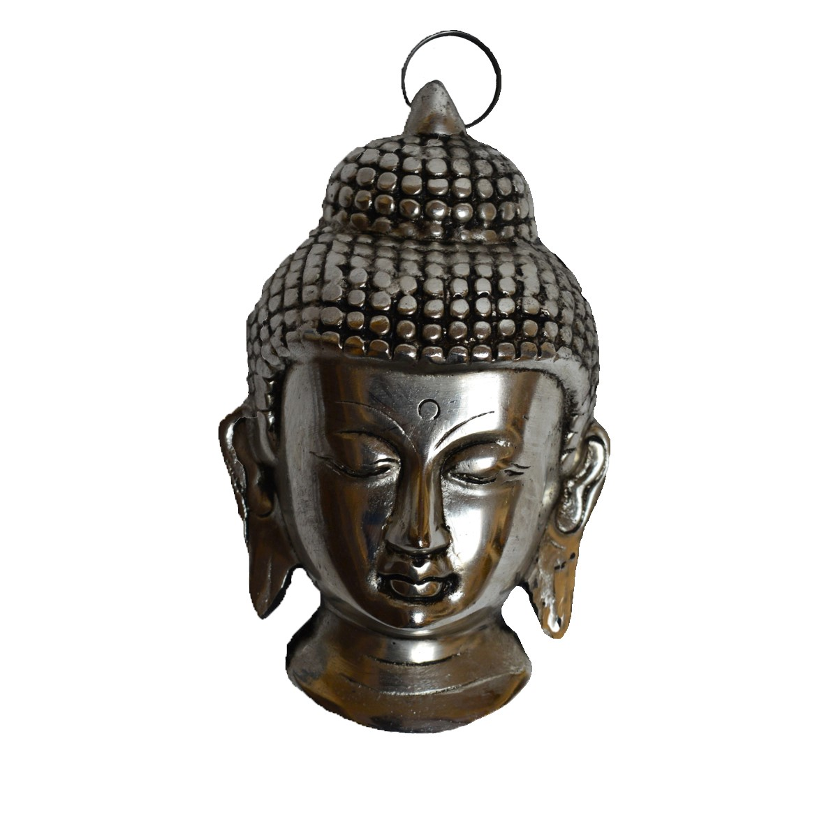 Metal Resting Buddha on Knee Indian Home Decor