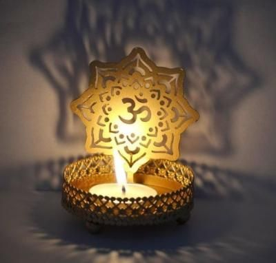 Om Tea Light Holder Indian Home Decor