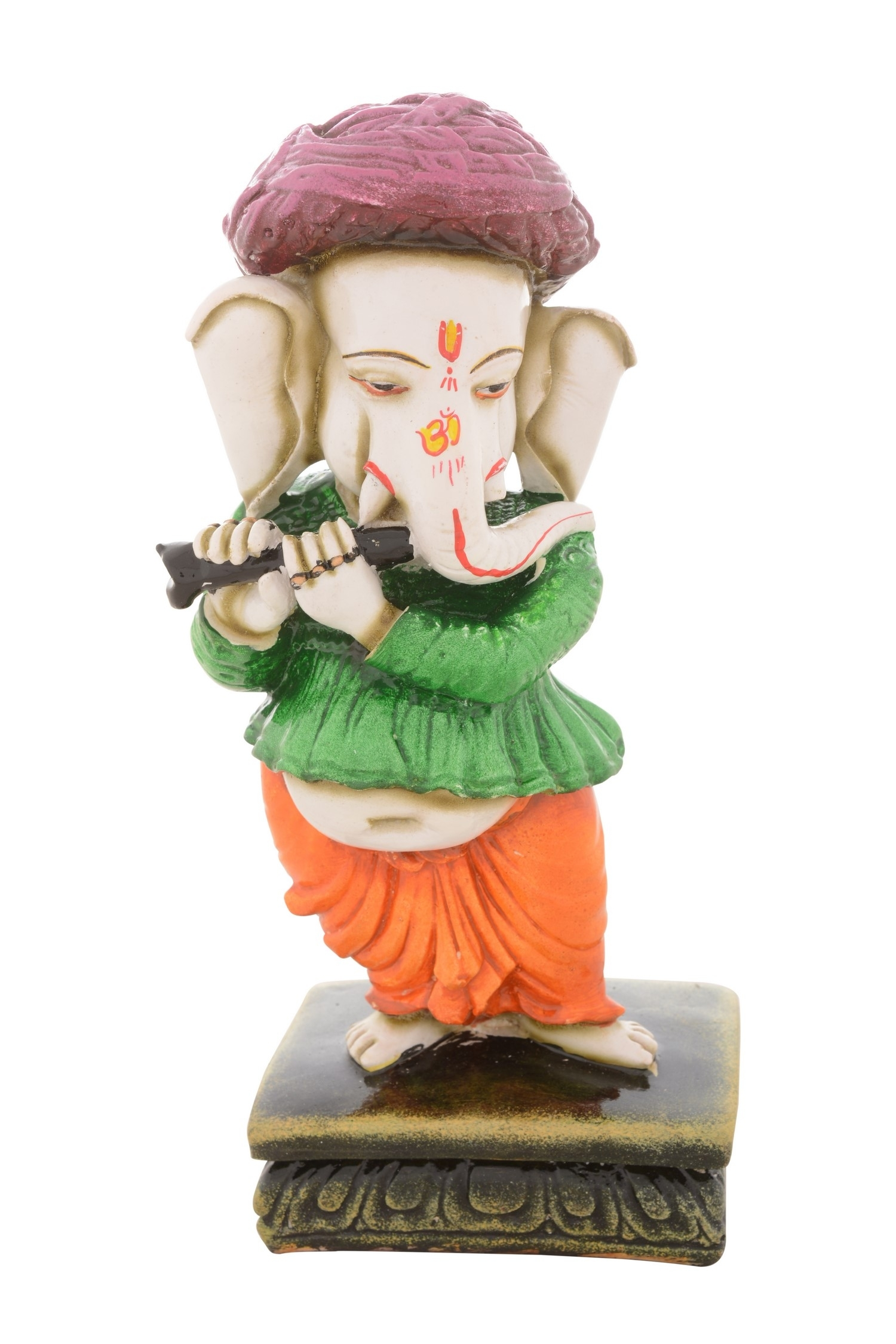 Premium Figurine of Lord Ganesha playing Flute Indian Home Decor