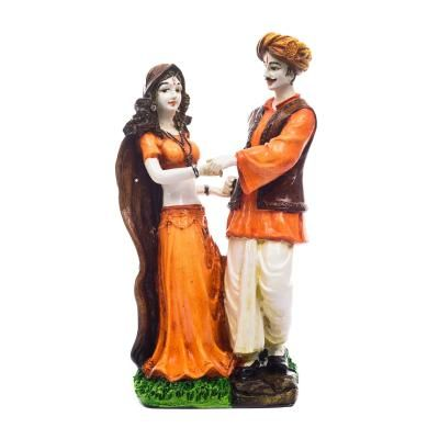 Handicraft Showpiece Home Decor Rajasthani Man and Women Statue Decorative Gift Indian Home Decor