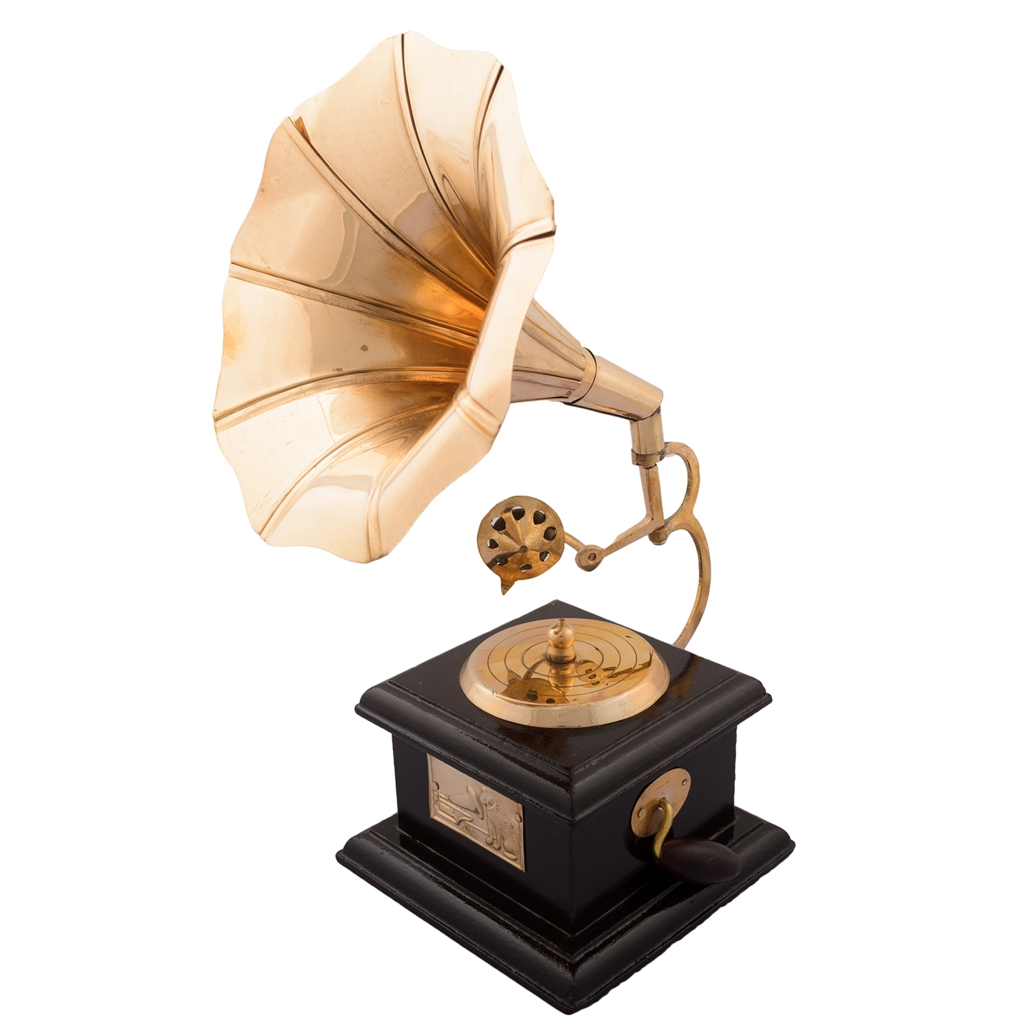 Brass Antique Music Decorative Gramophone Showpiece Indian Home Decor