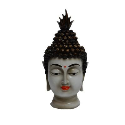 Polyresin Meditating Lord Buddha - Purple  Indian Home Decor