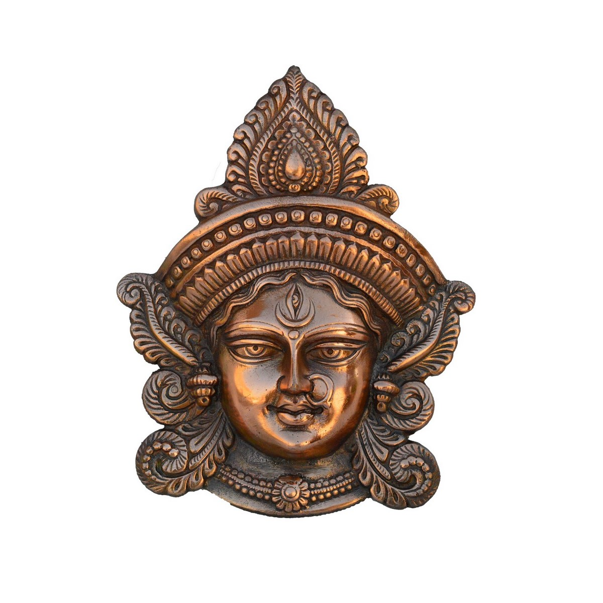Metal Goddess Durga Wall Hanging Indian Home Decor