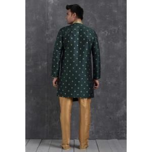 Silk Bottel Green Mens Sherwani