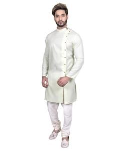 Cotton Mint Mens Sherwani