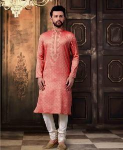 Cotton Pink  ,  White Mens Kurta Pajama