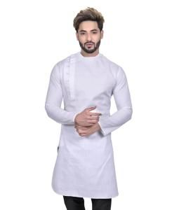 Cotton White Mens Sherwani