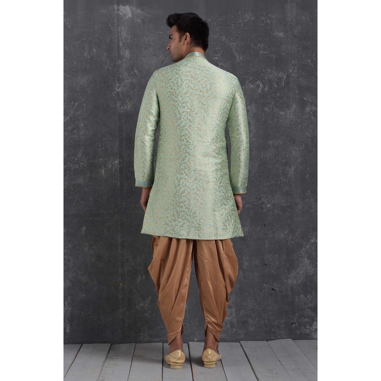 Silk Pista Mens Sherwani