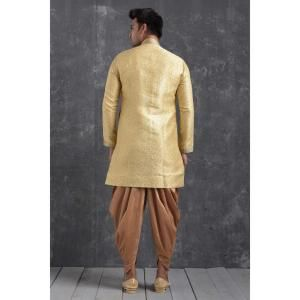 Silk Gold Mens Sherwani