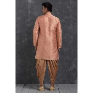 Silk Peach Mens Sherwani
