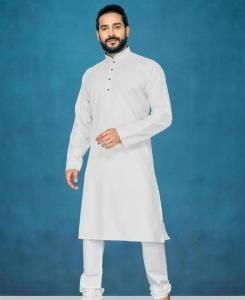 Cotton Off White Mens Kurta Pajama
