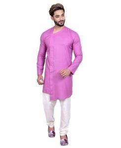 Cotton Fuchsia Mens Sherwani