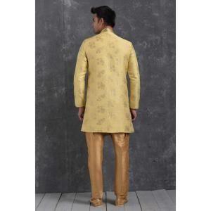 Silk Lemon Mens Sherwani