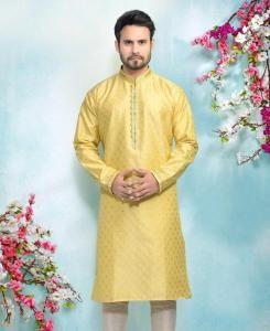 Silk Lemon Mens Kurta Pajama