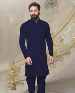 Silk Linen Mens Kurta Pajama