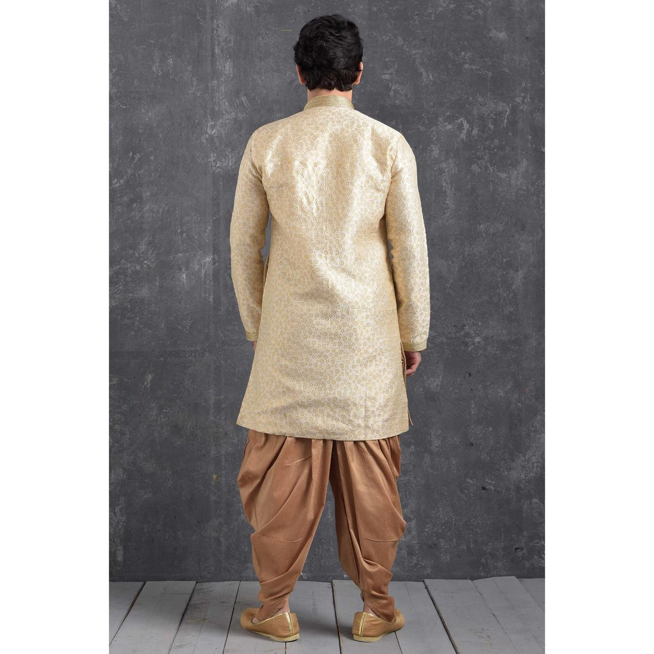 Silk Crean Mens Sherwani
