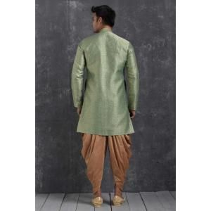 Silk Green Mens Sherwani