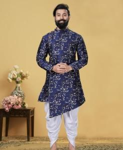 Silk Blue Mens Sherwani