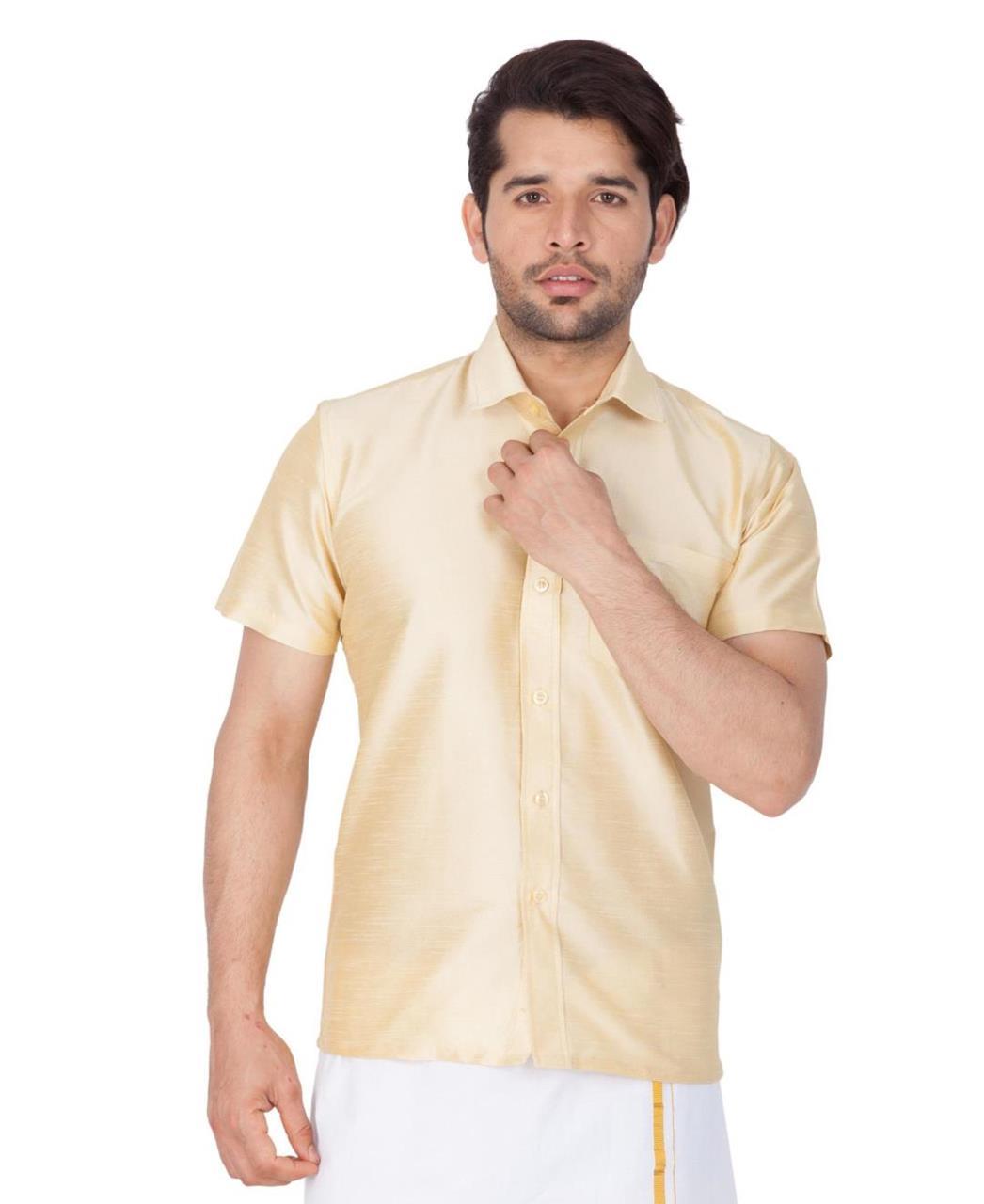 Plain Cotton Gold Dhoti