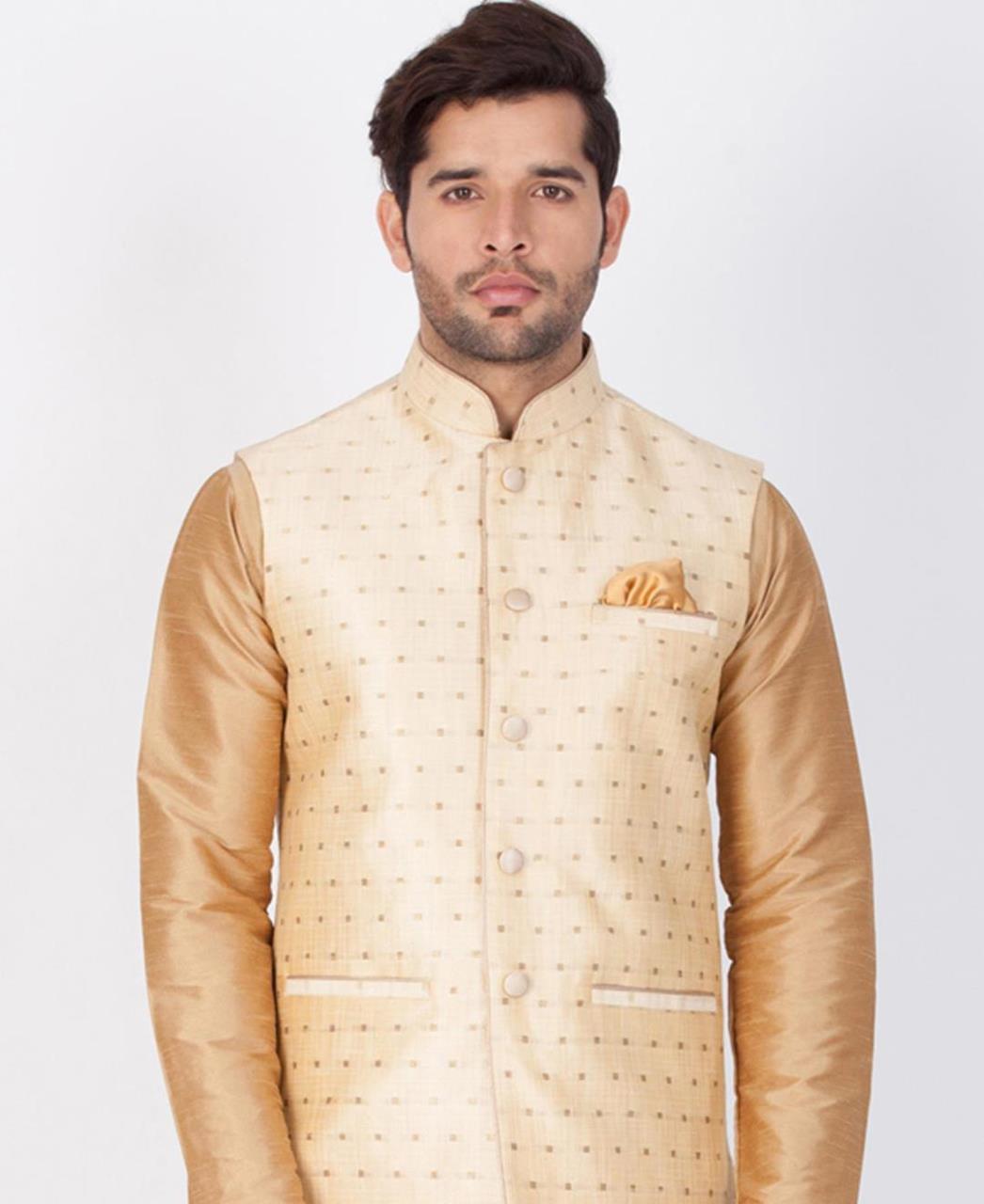 Printed Cotton Satin Gold Coats