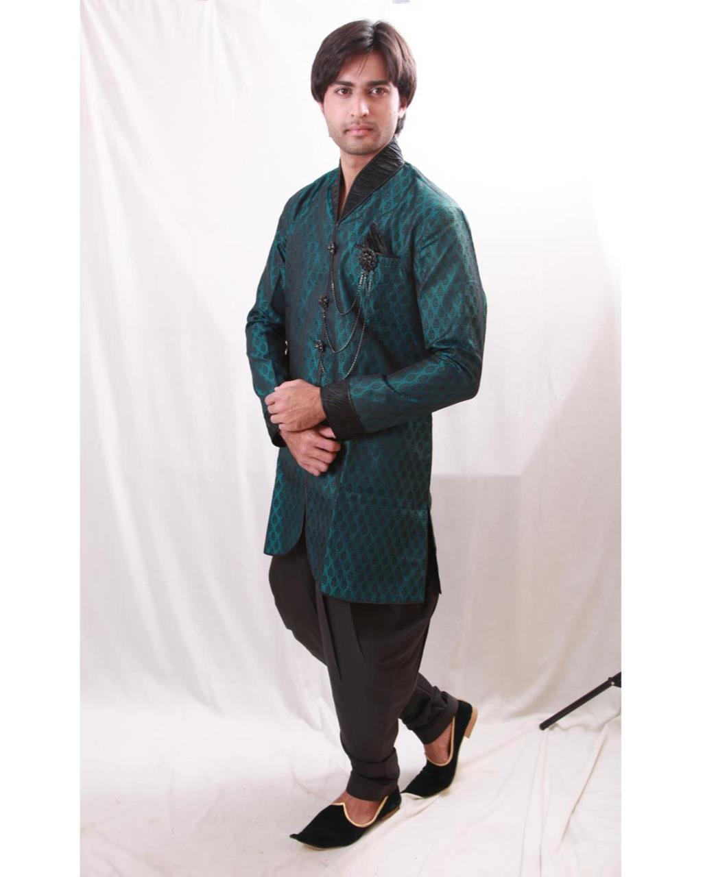 Printed Cotton Green Coats