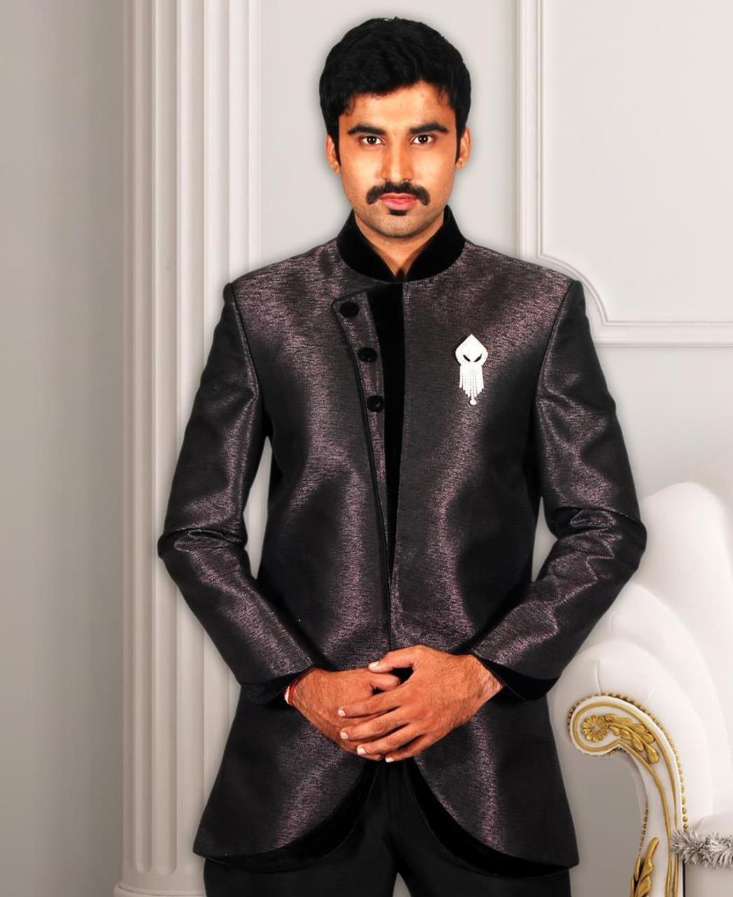 Plain Silk Purple Coats