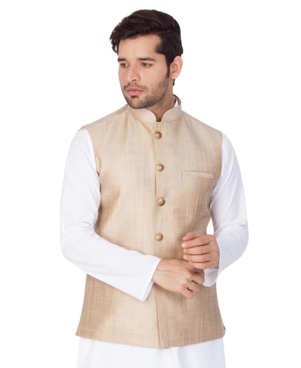Plain Cotton Satin Beige Coats