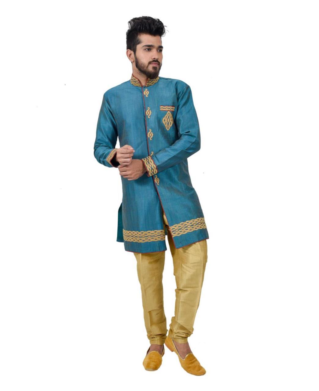 Printed Silk Turquoise Coats