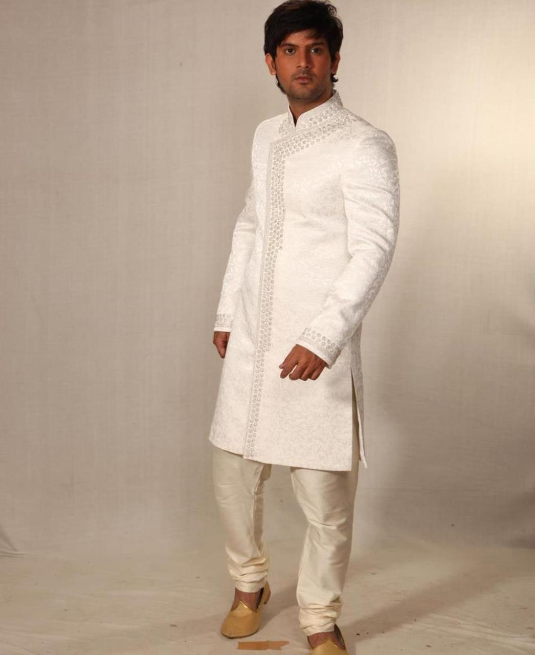 Embroidered Cotton White Coats