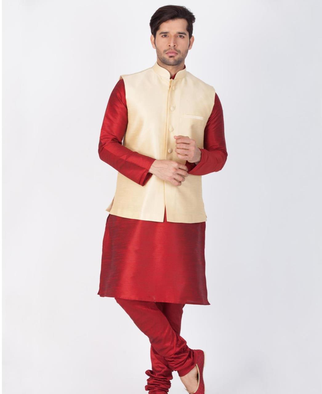 Plain Cotton Maroon Coats