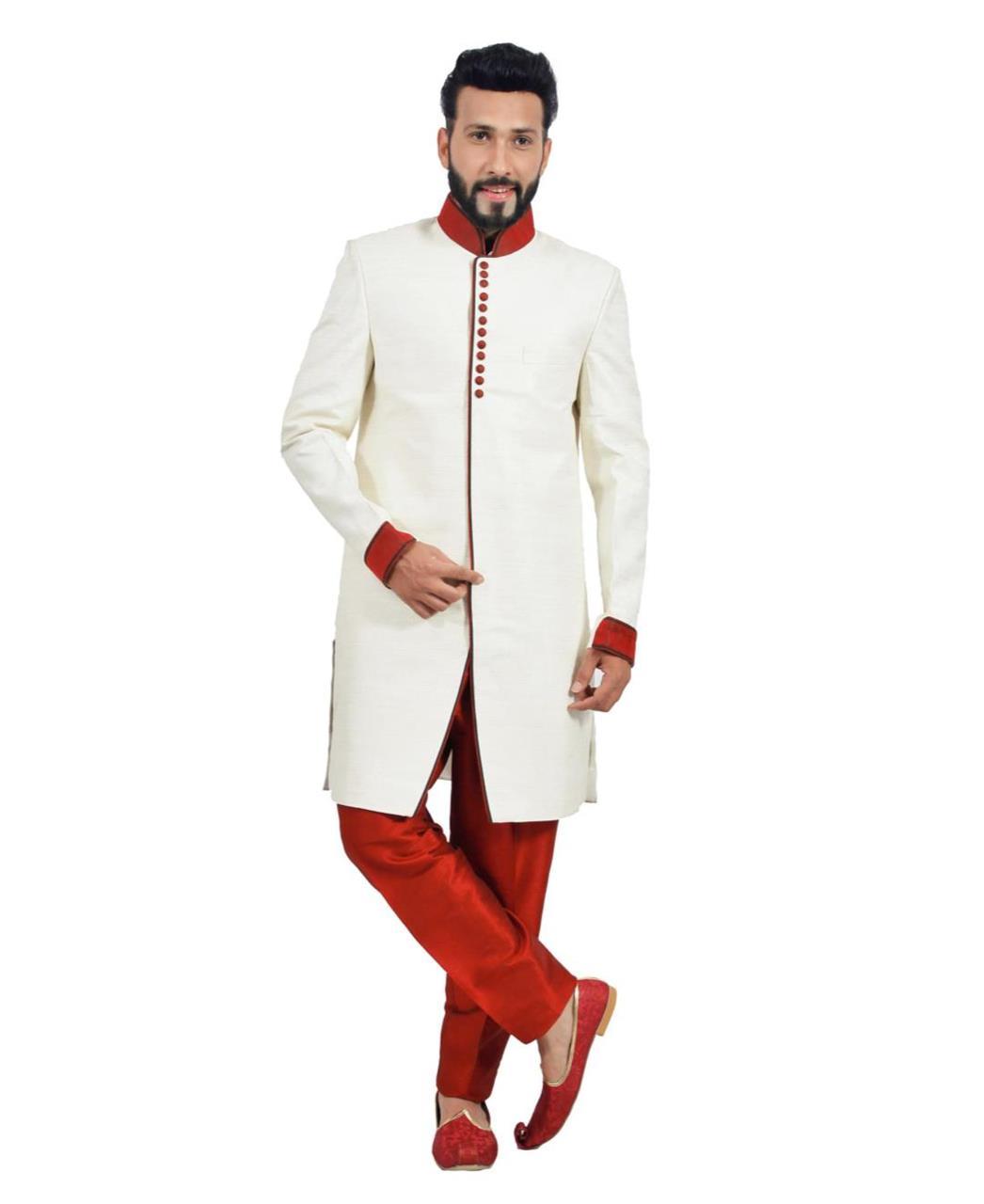 Plain Silk White Coats