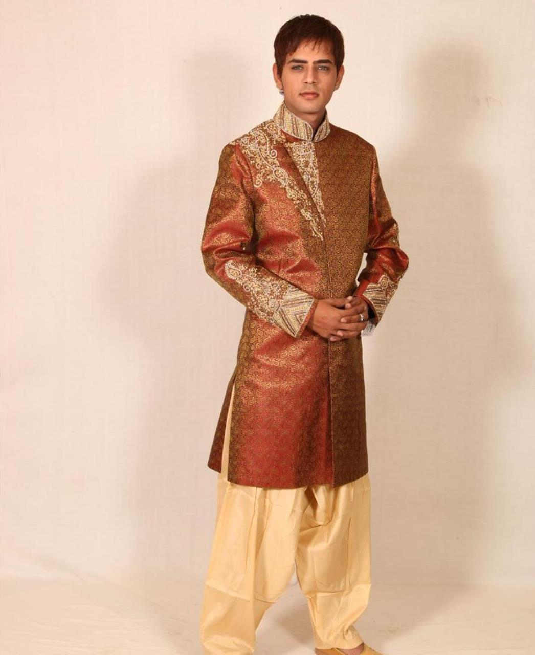 Printed Silk Brown Coats