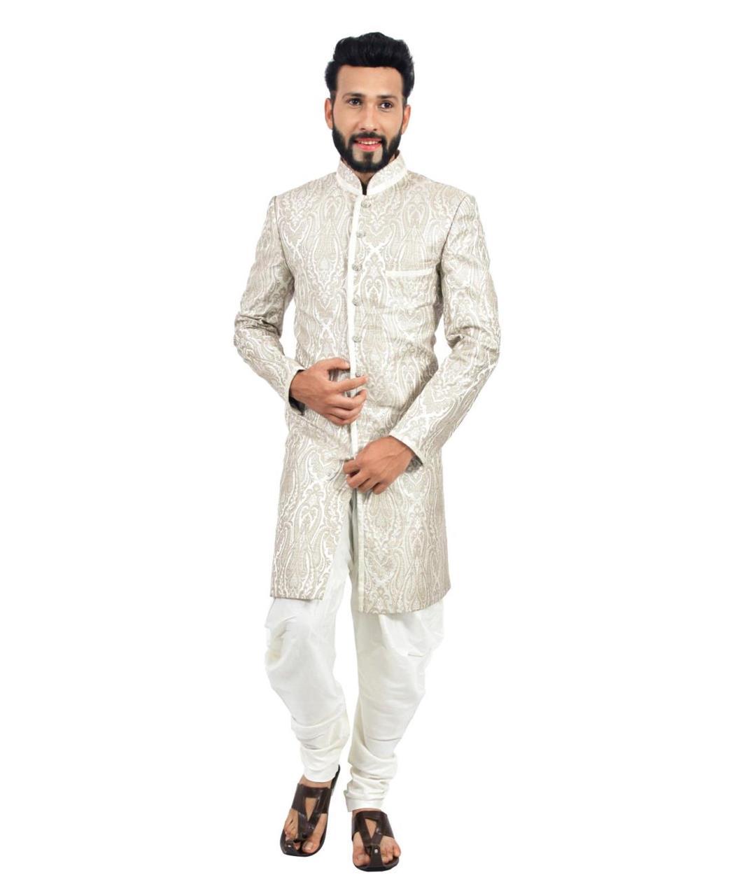 Printed Silk White Coats