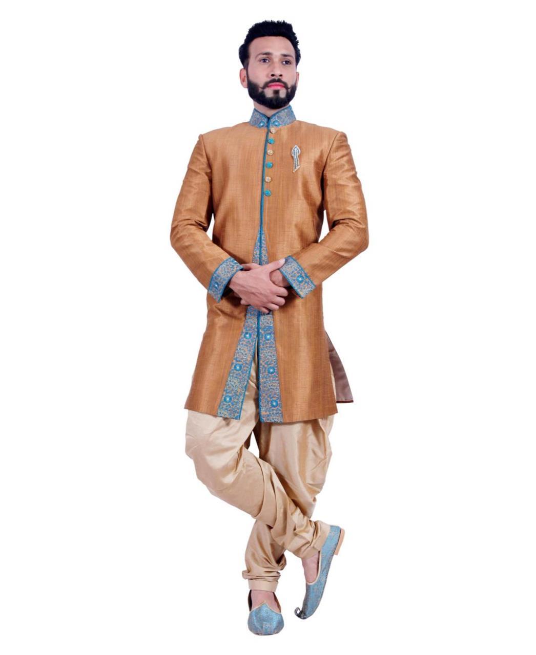 Plain Silk Brown Coats
