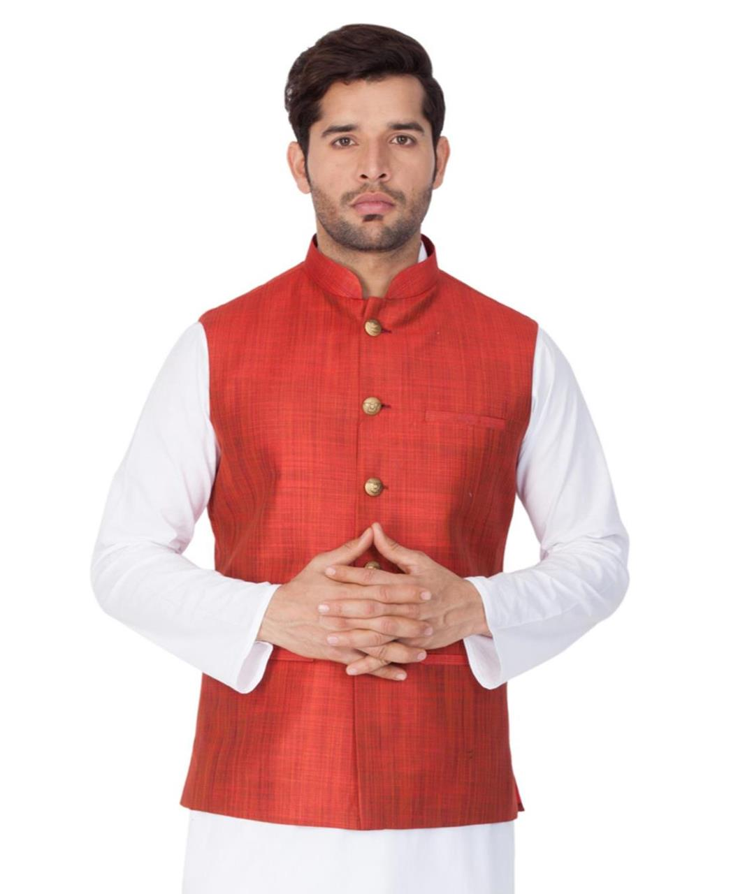 Plain Cotton Satin Red Coats