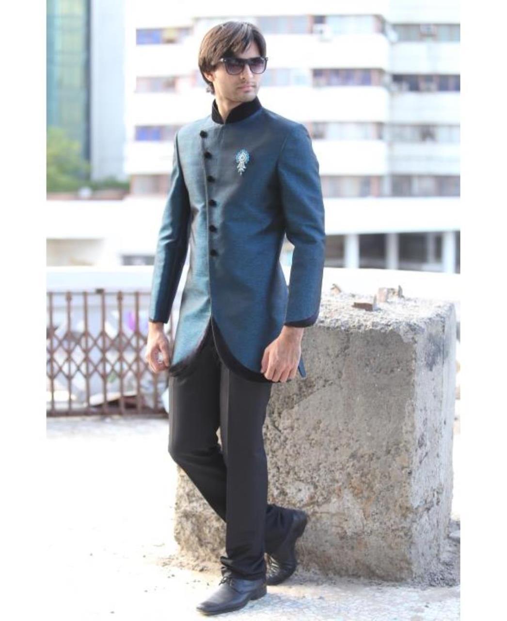 Plain Cotton Blue Coats