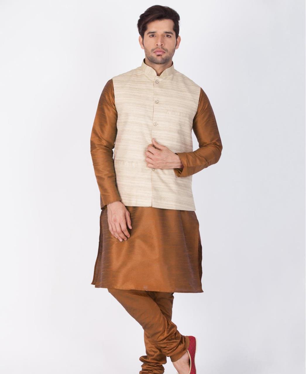 Plain Cotton Brown Coats