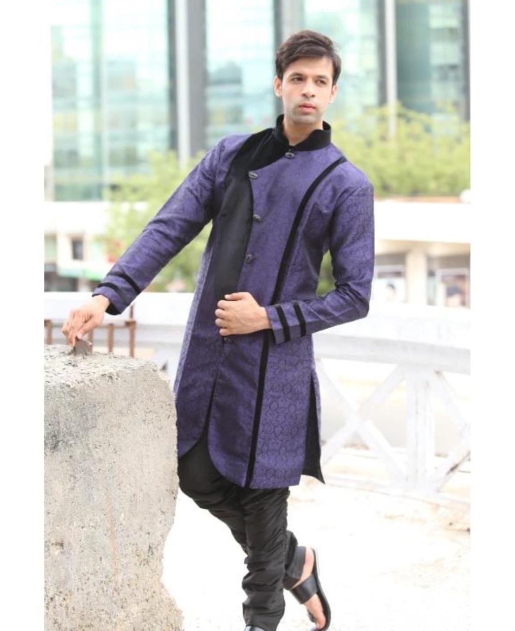 Printed Cotton Violet Coats