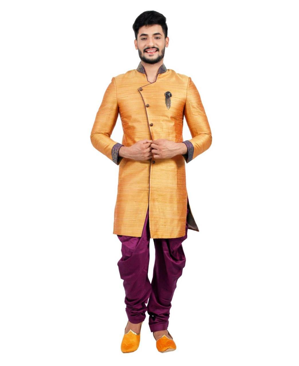 Printed Silk Orange Coats