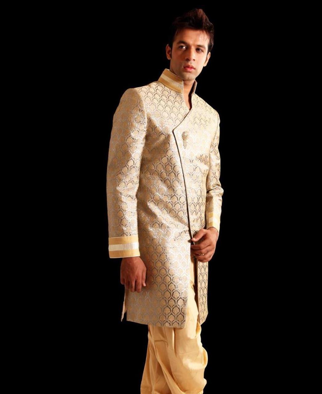 Printed Silk Gold Coats