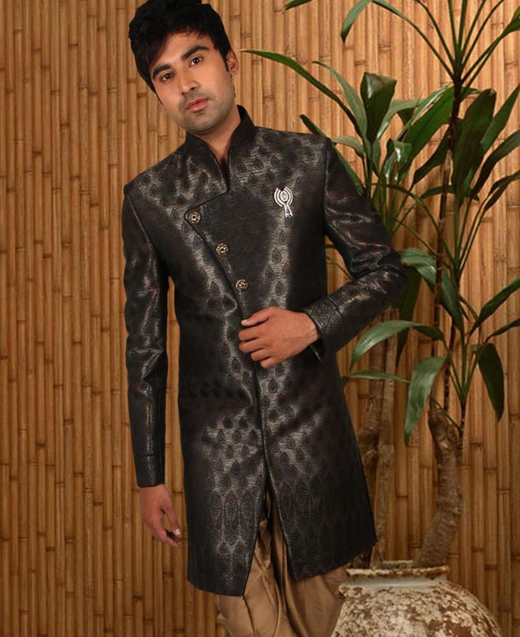 Printed Silk Black Coats