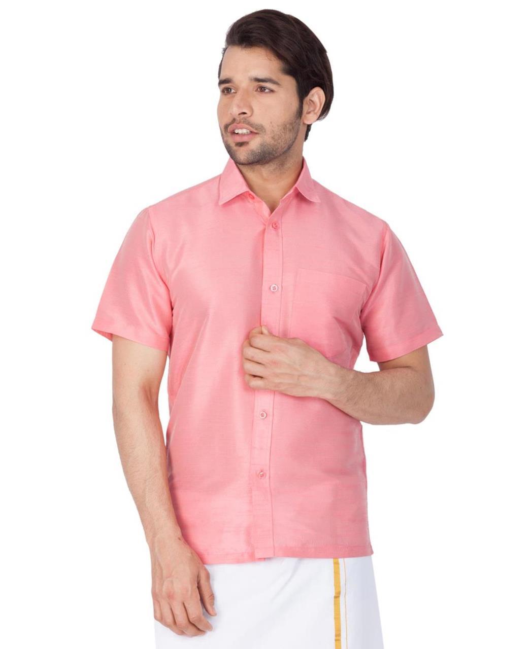 Plain Cotton Pink Dhoti