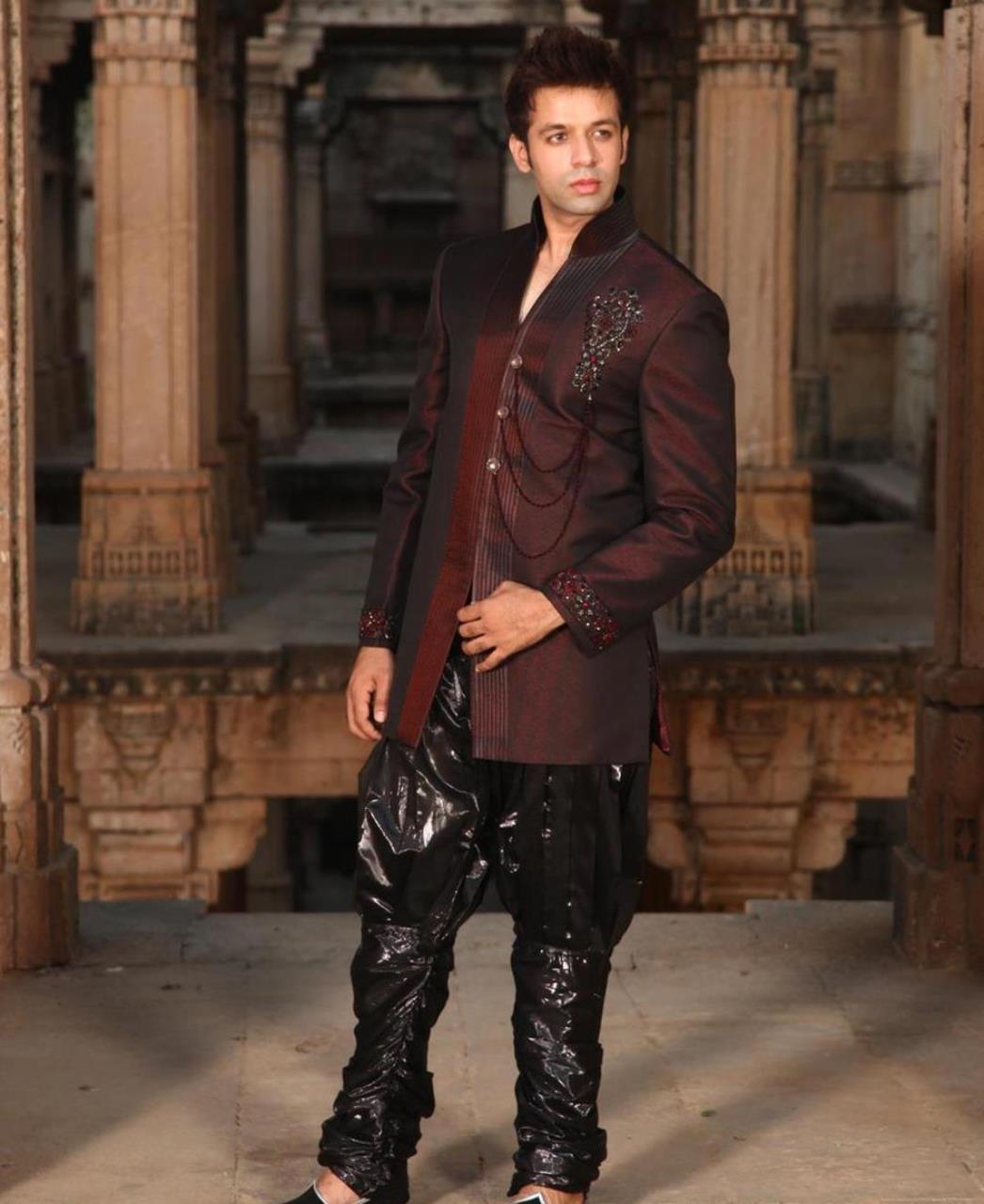 Stones Silk Maroon Coats